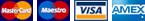 MasterCard, Maestro, Visa, AmericanExpress